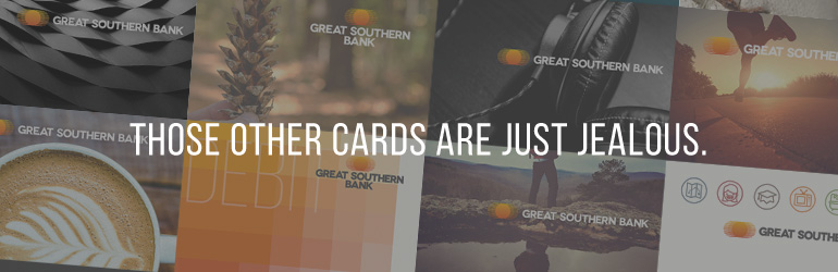 Debit Card collage with the phrase 'Those other cards are just jealous' on it.